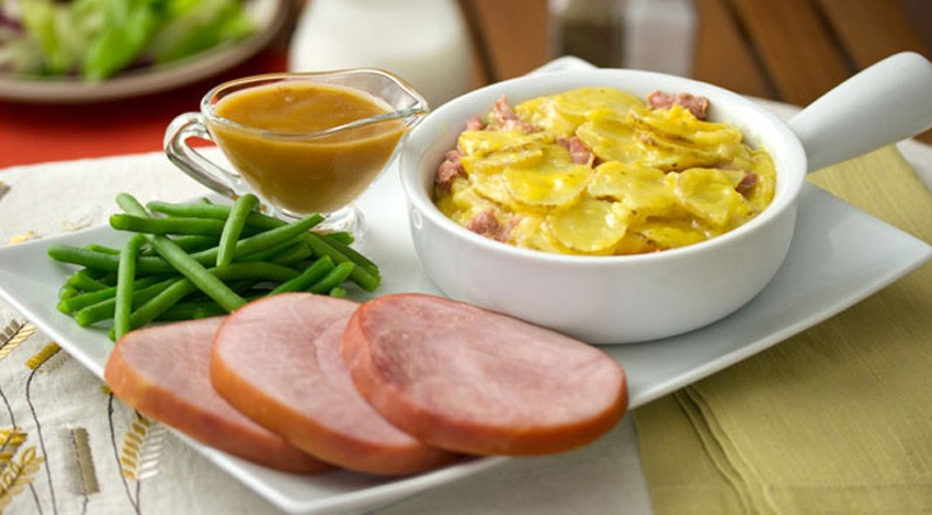 Ham & Scallop Potatoes