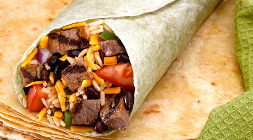 Beef & Bean Burritos