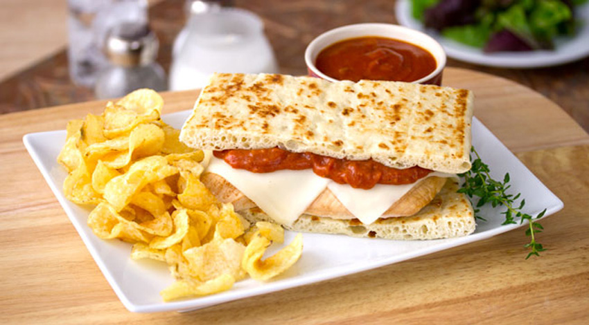 Chicken Parmesan Flat Bread