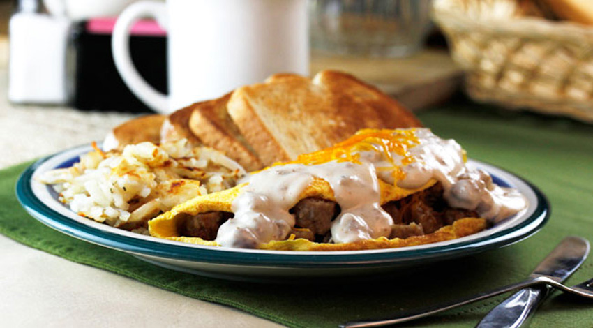 Sausage Gravy Omelet