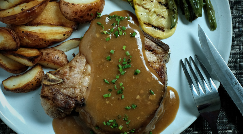 Dijon Pork Gravy