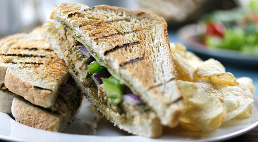 Grilled Chicken Pesto Sandwich
