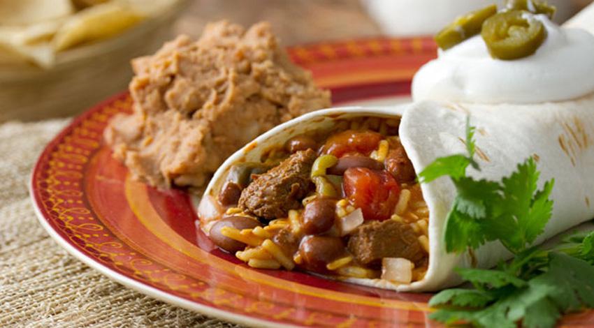 Steak and Chili Rice Burrito